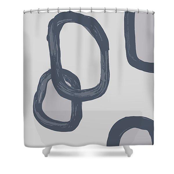 Dry Brush 3 Shower Curtain