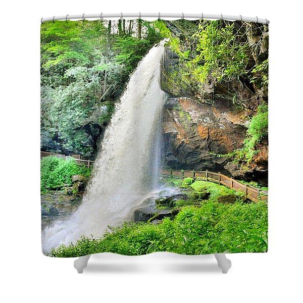 Dry Falls Highlands North Carolina 2 Shower Curtain