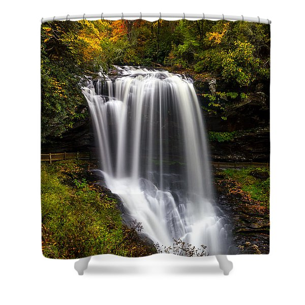 Dry Falls In October  Shower Curtain