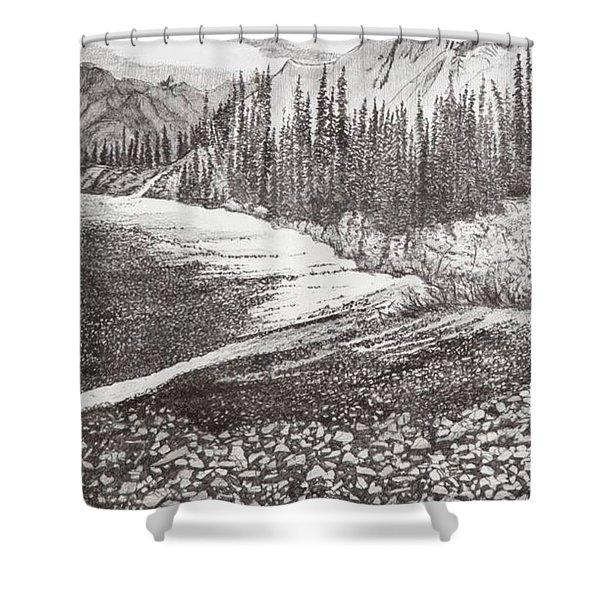 Dry Riverbed Shower Curtain