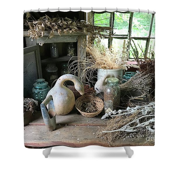 Drying Herbs And Flowers Shower Curtain