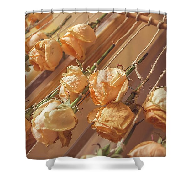 Drying Roses Shower Curtain