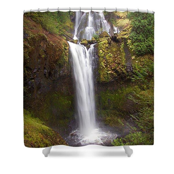 Dual Cascade Shower Curtain