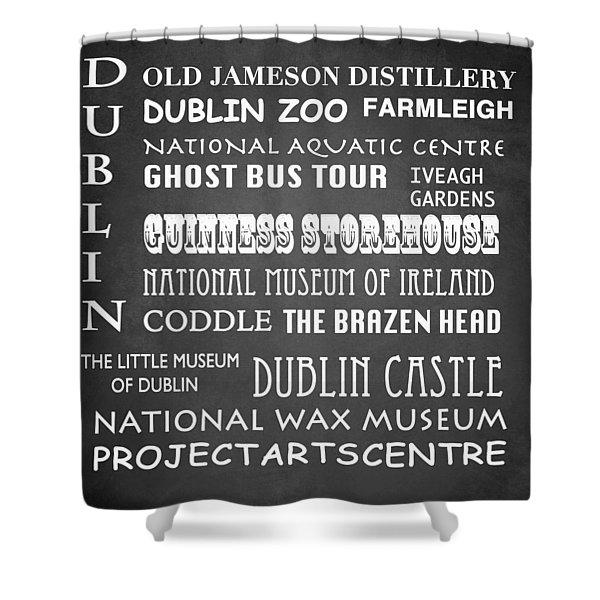 Dublin Famous Landmarks Shower Curtain