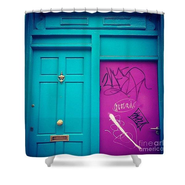 Dublin, Ireland Door Shower Curtain