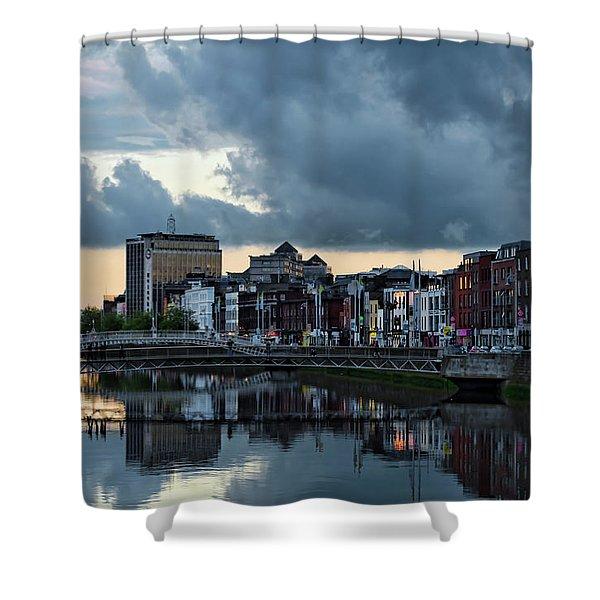 Dublin Sky At Sunset Shower Curtain