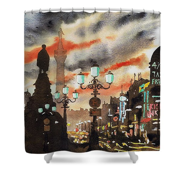 Dublin... The Ghost Of Nelson Shower Curtain