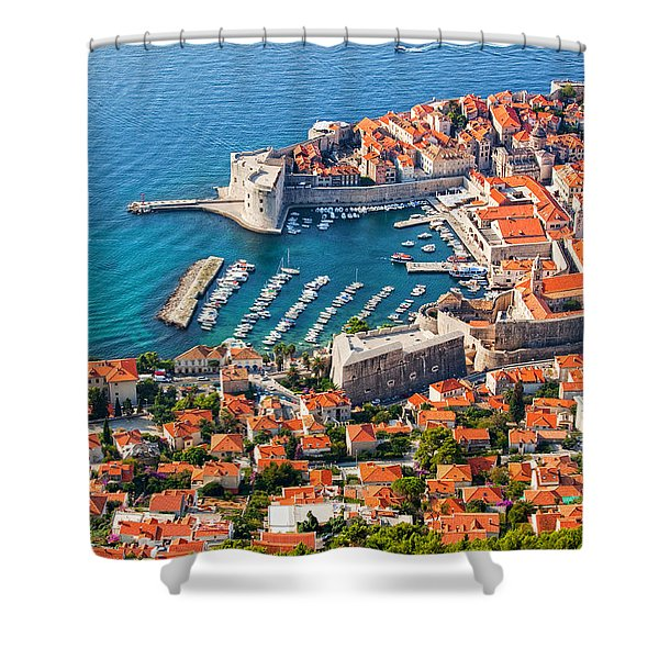 Dubrovnik From Above Shower Curtain