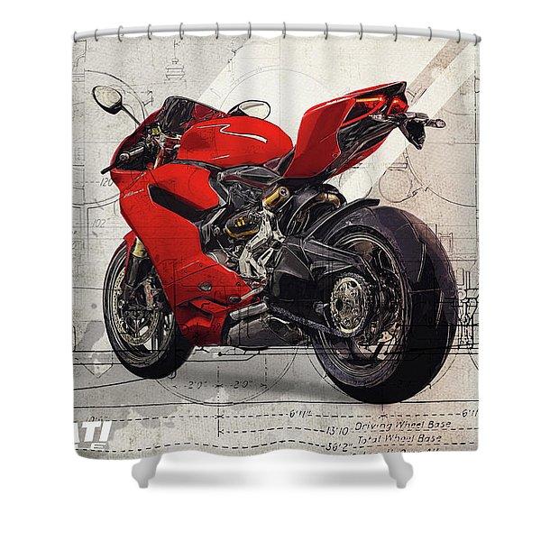 Ducati 1199 Panigale Shower Curtain