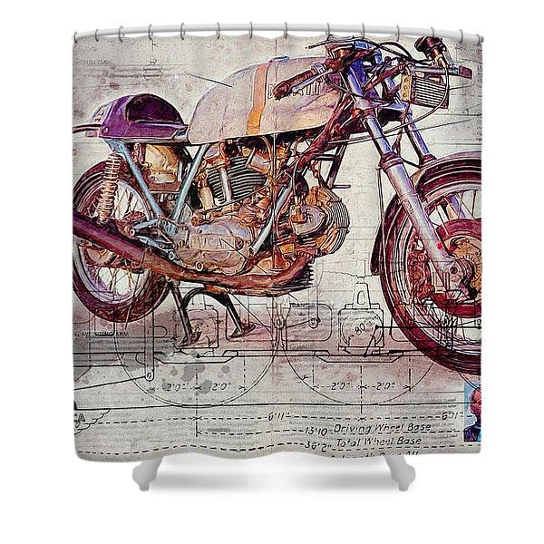 Ducati 750 Imola 1972 Shower Curtain