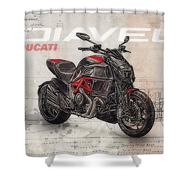Ducati Diavel 2015 Shower Curtain