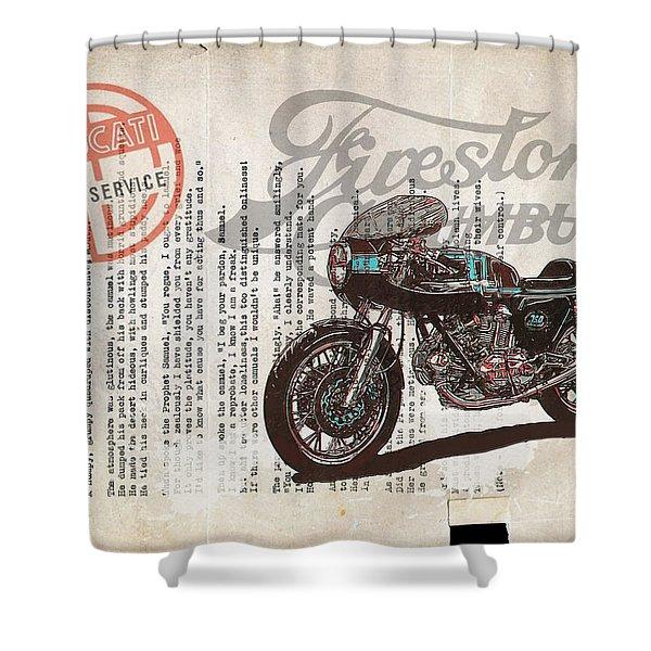 Ducati Gt 750 Shower Curtain