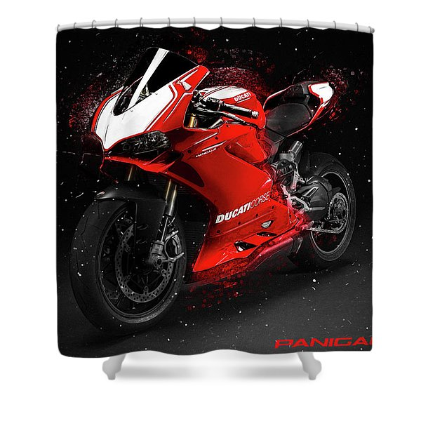 Ducati Panigale R Shower Curtain