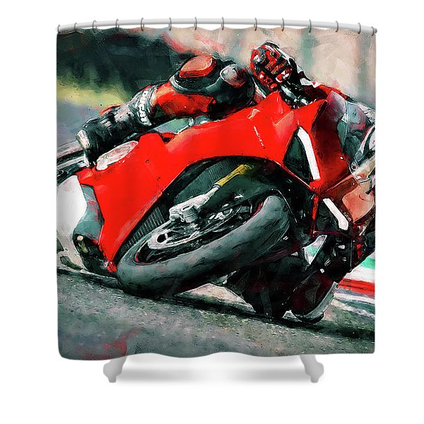 Ducati Panigale V4 - 01 Shower Curtain