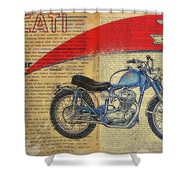Ducati Scrambler 250 Shower Curtain