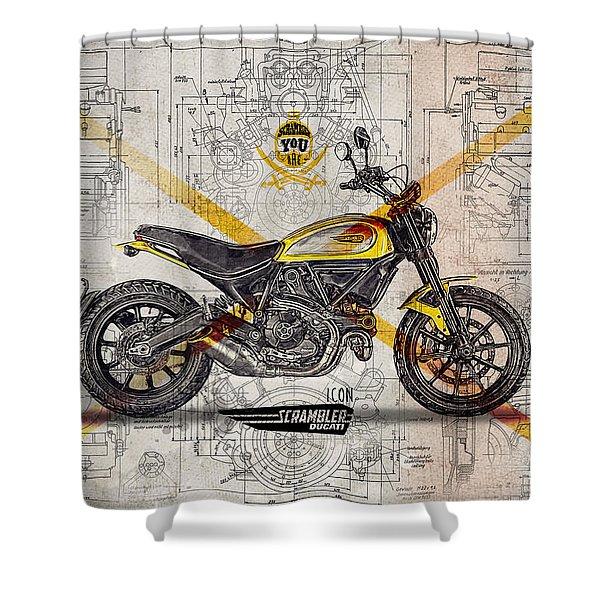 Ducati Scrambler Icon Shower Curtain