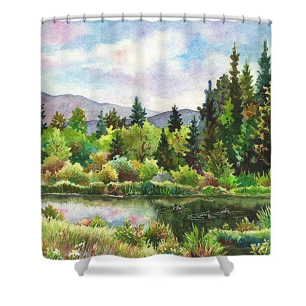 Duck Pond At Caribou Ranch Shower Curtain