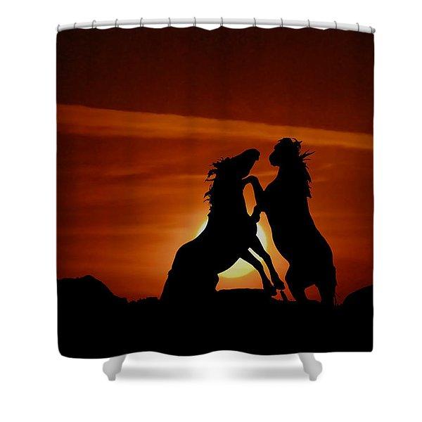 Duel At Sundown Shower Curtain