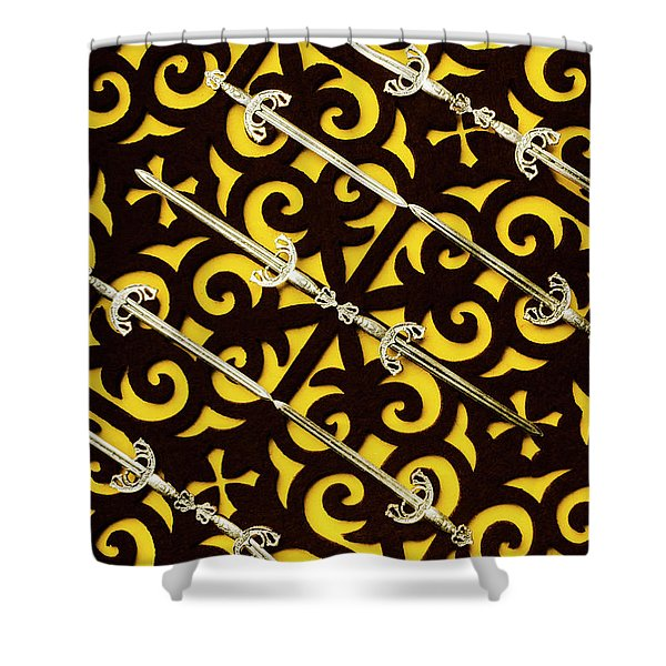 Duels In Diagonal  Shower Curtain