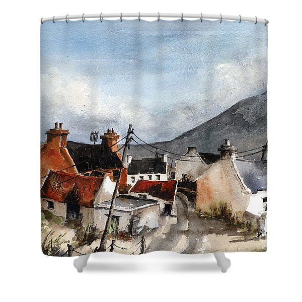 F 701  Dugort Clachan Achill Mayo Shower Curtain