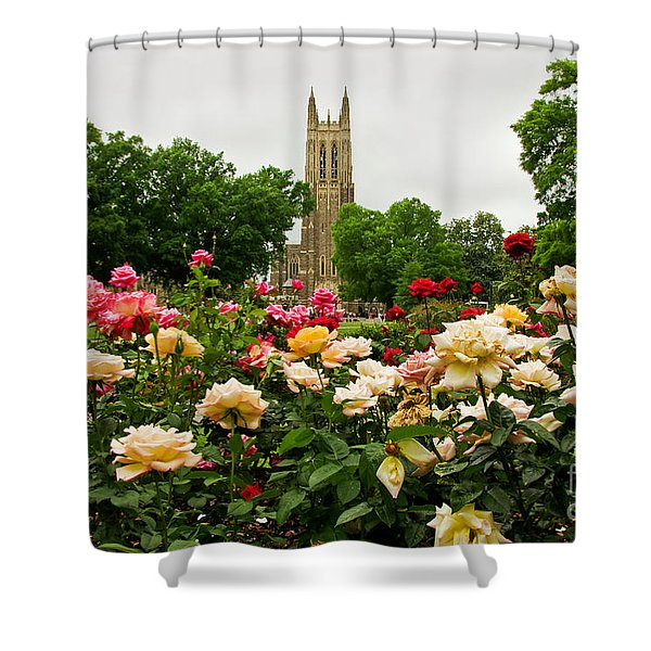 Duke Chapel And Roses Shower Curtain