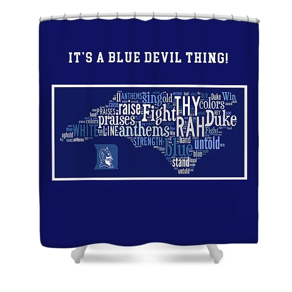 Duke University Blue And White Products Shower Curtain
