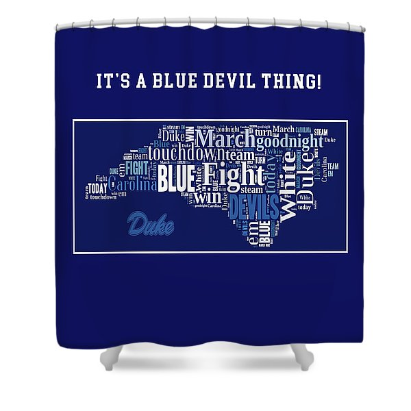 Duke University Fight Song Products Shower Curtain