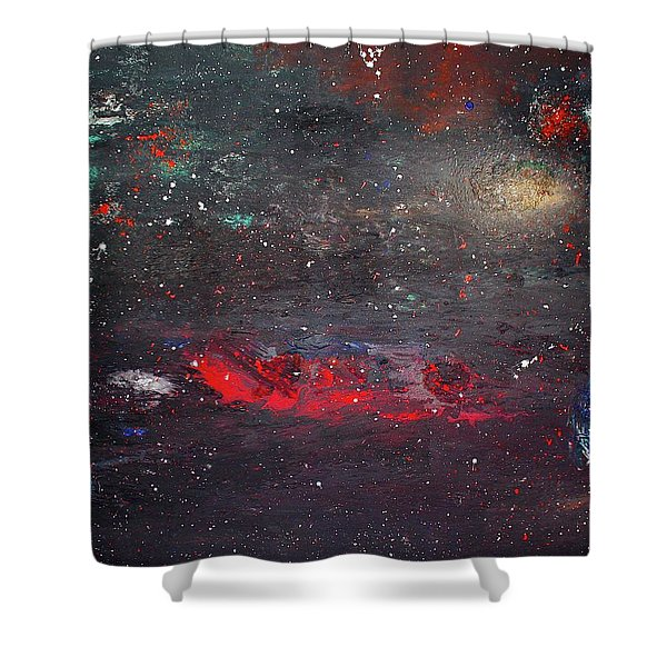Shower Curtain featuring the painting Dulaity by Michael Lucarelli