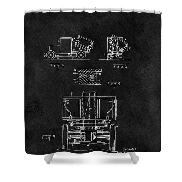 Dump Truck Patent Shower Curtain
