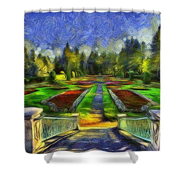 Duncan Gardens Van Gogh Style Shower Curtain