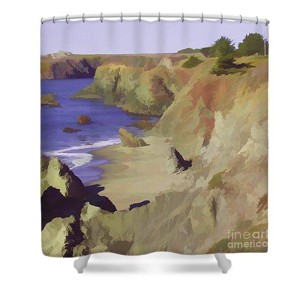 Above Bodega Shower Curtain