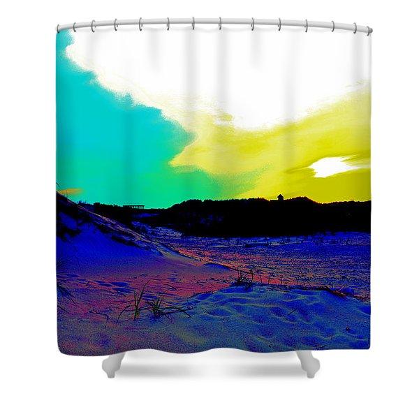 Dune Days Shower Curtain