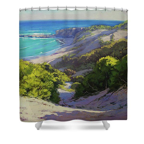 Dunes At Slodiers Beach Shower Curtain