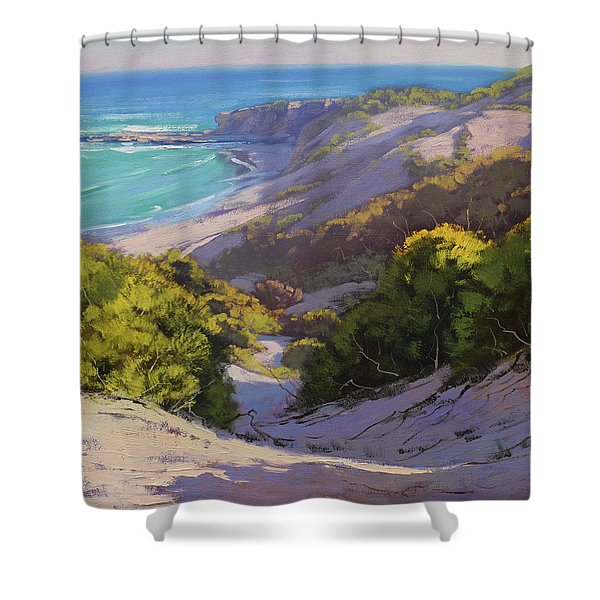 Dunes At Soldiers Beach Shower Curtain