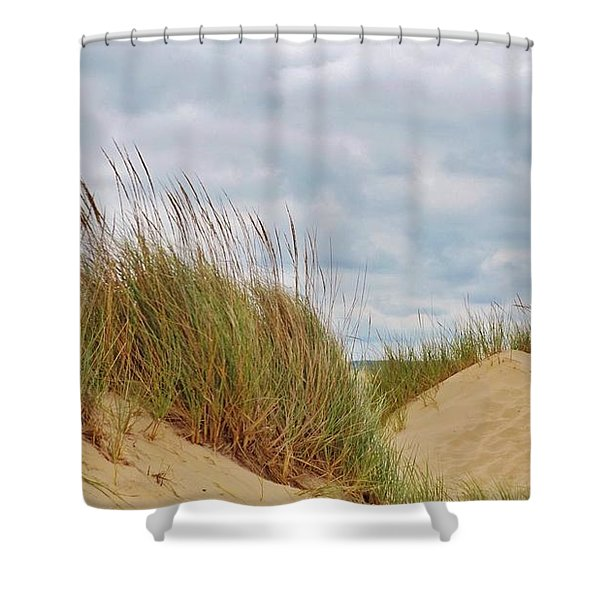 Dunes,grasses,and Clouds      Lake Michigan Shoreline     Indiana Shower Curtain
