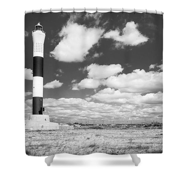 Dungeness Lighthouse. Shower Curtain