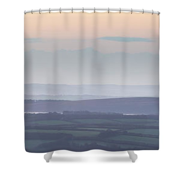 Dunkery Hill Morning  Shower Curtain