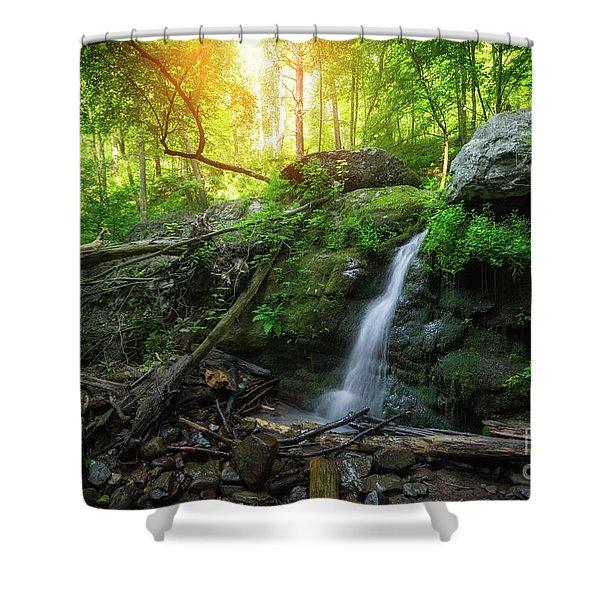 Dunnfield Creek Sunrise  Shower Curtain