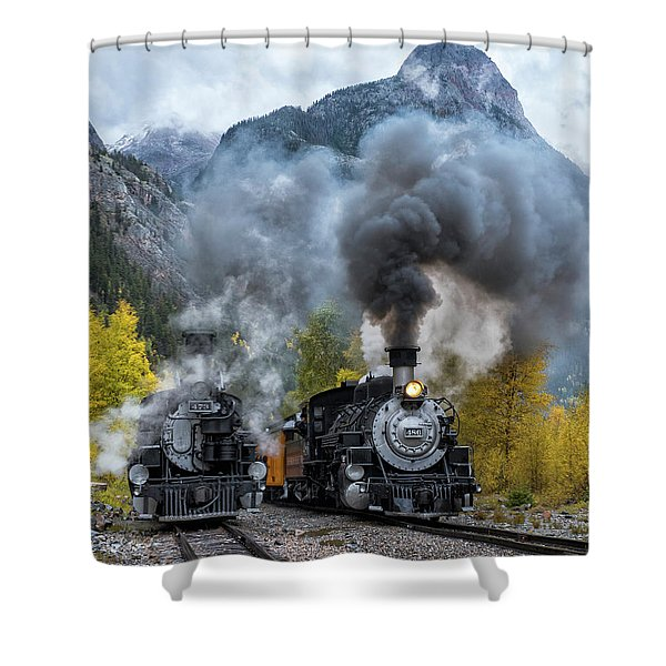 Durango Silverton Train Shower Curtain