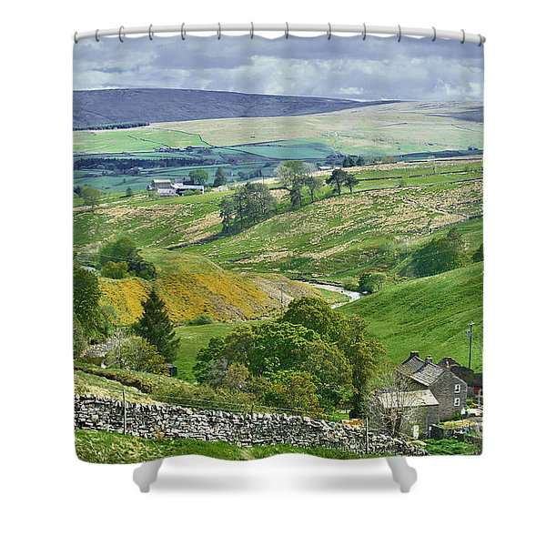 Durham Dales Countryside - Weardale Shower Curtain