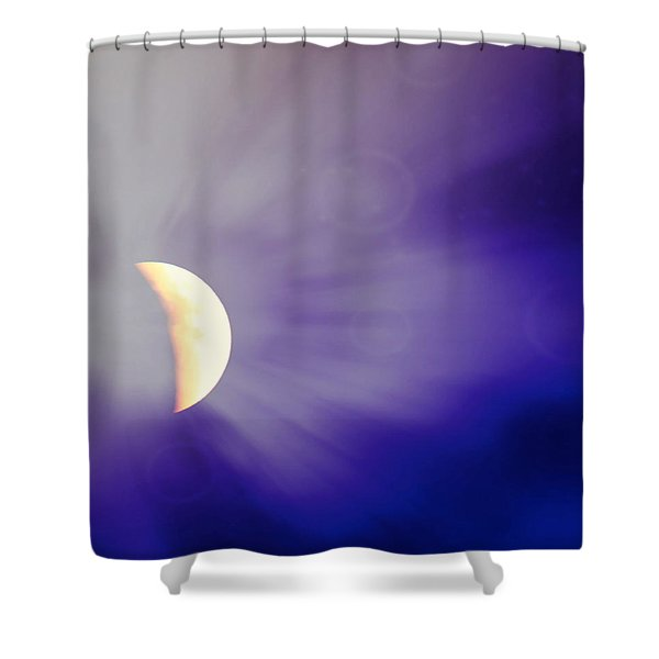 Aries Moon During The Total Lunar Eclipse 3 Shower Curtain