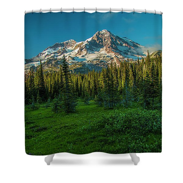Dusk At Indian Henry Campground Shower Curtain
