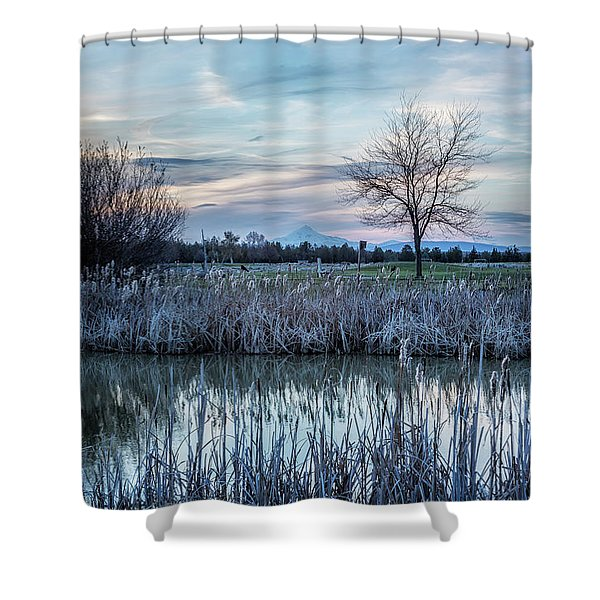 Dusk At The Pond Shower Curtain