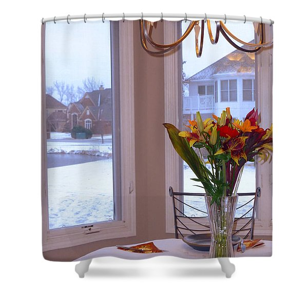 Dusk Dining View Shower Curtain