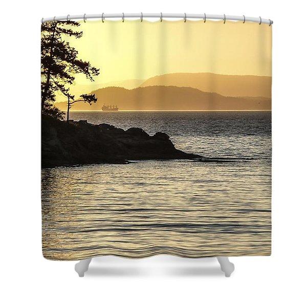 Dusk On Sucia Island Shower Curtain