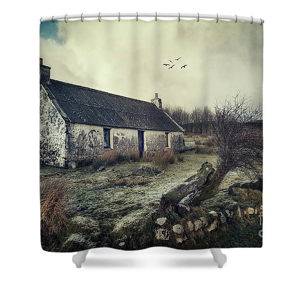 Dusty Morning Shower Curtain