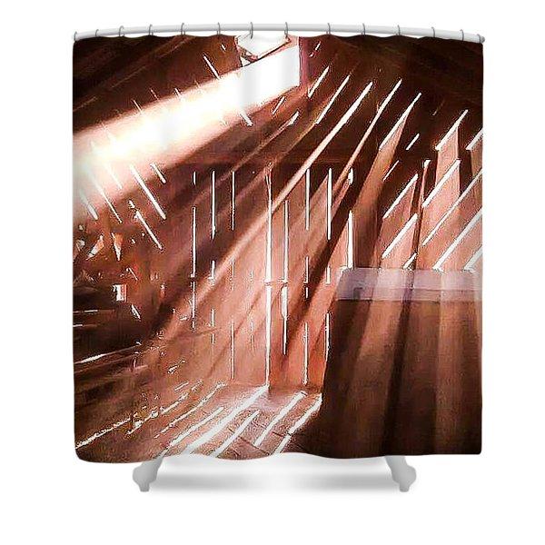 Dusty Rays Shower Curtain