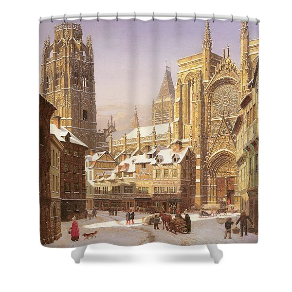 Dutch Cathedral Town Shower Curtain