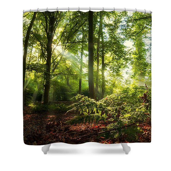 Dutch Jungle Shower Curtain
