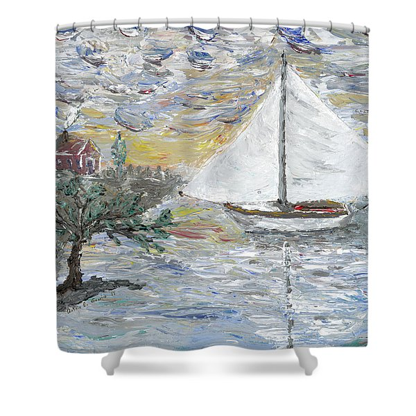 Dutch Shore Shower Curtain